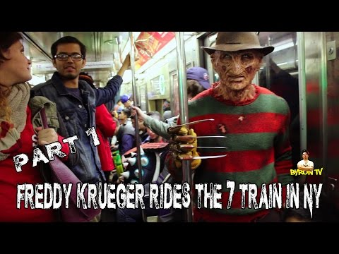 Freddy Krueger Rides The 7 Train In NYC Part 1