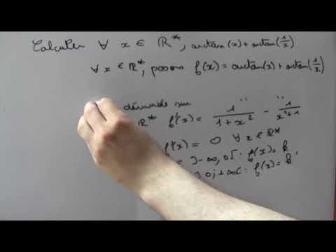 Exercices Sur Les Fonctions Réciproques : Arctan(x) + Arctan(1/x) = ?