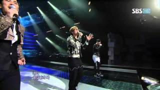 4Men - I can't (포맨 - 못해) @ SBS Inkigayo 인기가요 100214