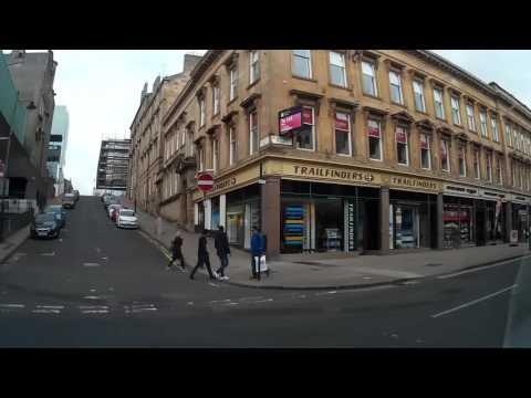 Drive Around Centre of Glasgow Scotland