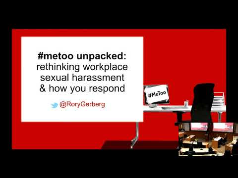 Rory Gerberg on #metoo unpacked -  Berkeley Haas Women in Leadership 2018 workshop