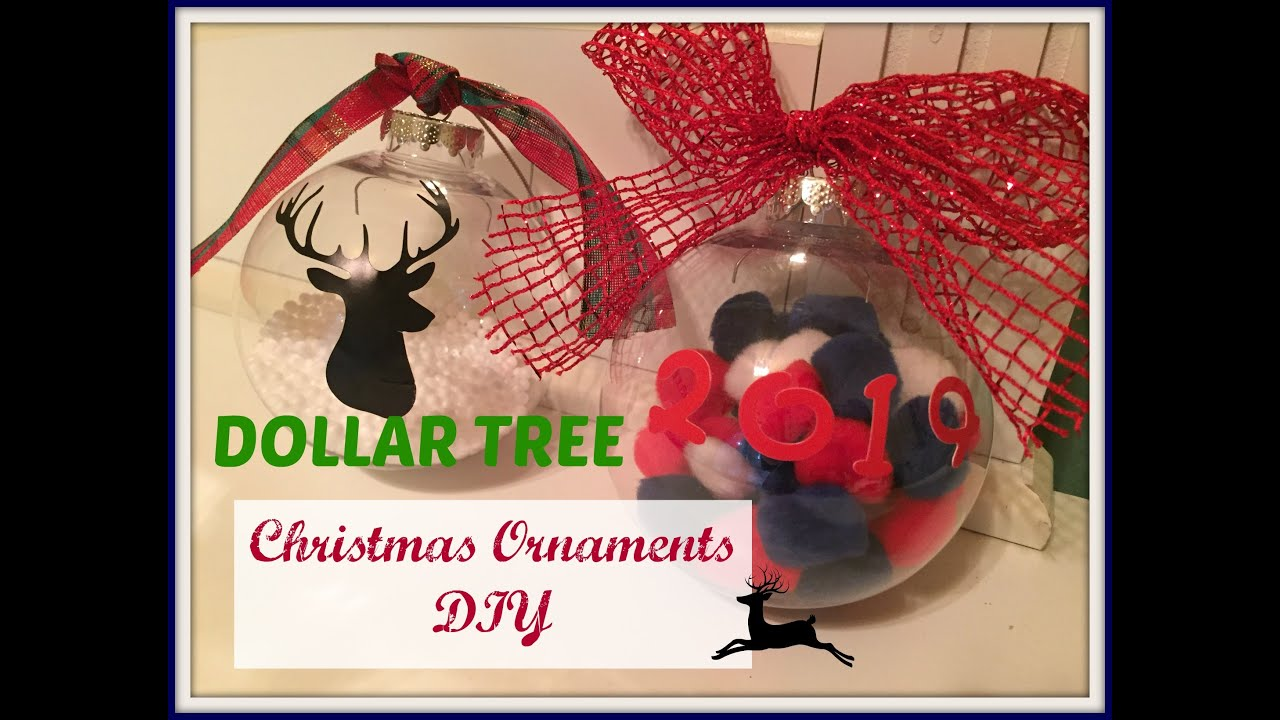 DOLLAR TREE Christmas Ornaments DIY | PLAID WEEK: Day 4 - YouTube