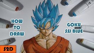 How To Draw Goku SSJ Blue