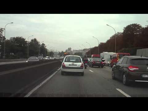 Paris Highway System (les Autoroutes de Paris) - Timelapse