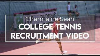 Charmaine Seah  - College Tennis Recruiting Video - Fall 2019