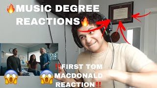 MUSIC DEGREE REACTIONS! Tom MacDonald - Cancer