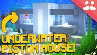 1 Hour UNDERWATER PISTON HOUSE in Minecraft 1.13!