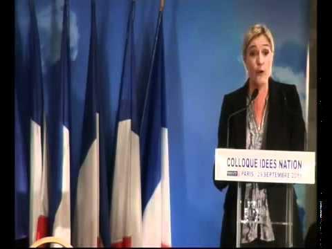 Marine le Pen parle du redressement de l'école de la République