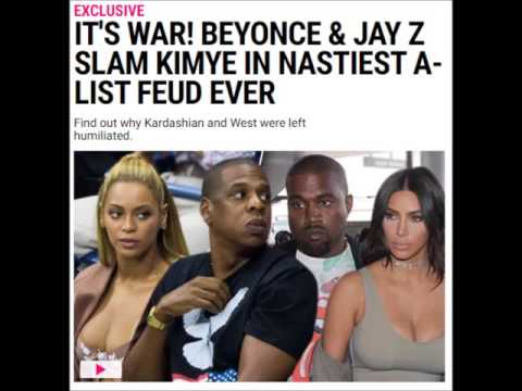 IT'S WAR!! : Beyonce and Jay Z pay Kim and Kanye DUST!