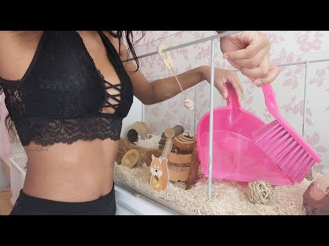 HOW TO CLEAN A BIG HAMSTER CAGE   VLOG