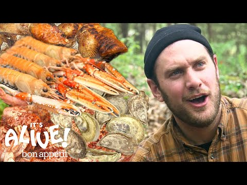 Brad Makes Campfire Seafood  It's Alive  Bon Appétit