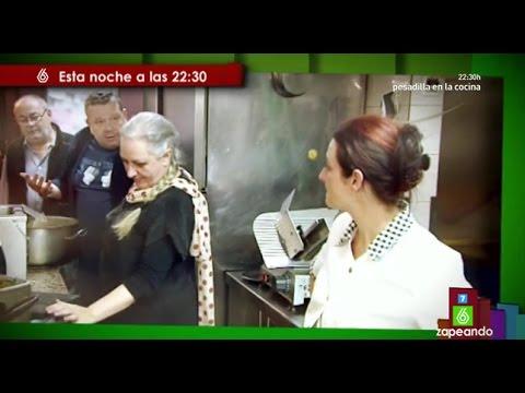 Los 39 zapeadores 39 promocionan 39 pesadilla en la cocina 39 en for Pesadilla en la cocina brasas