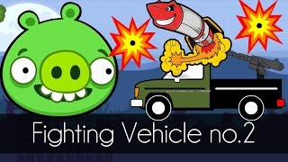 Bad Piggies - FIGHTING VEHICLE No.2 (Field of Dreams) - Upgrade Cruise Missile
