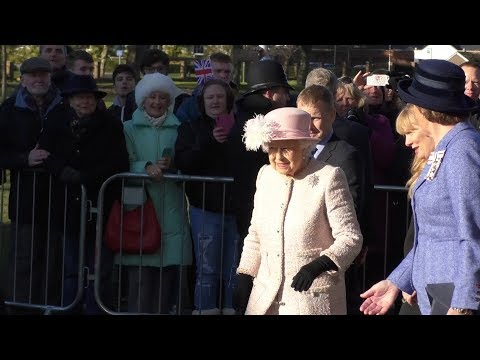 Her Majesty The Queen Makes A Special Visit To Chichester