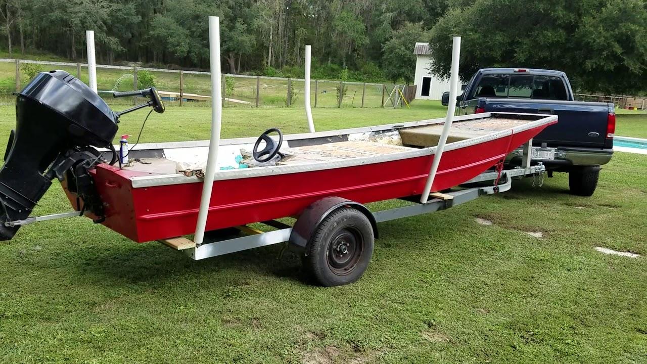 Custom flat bottom jon boat
