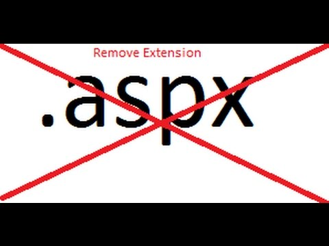 How to remove .aspx extension from URL in asp.net