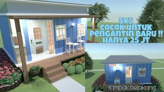Rumah Extra Mungil 5x5 M || Tyni House Low Budget Indonesia|| Planner 5d