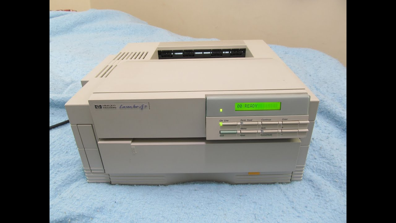 hp laserjet 4p printer 1993 youtube rh youtube com HP Laptop User Manual HP 251-A123w Manuals