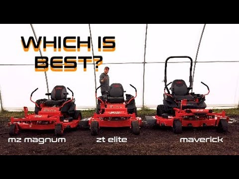 Comparing 3 Badboy zero turn mowers