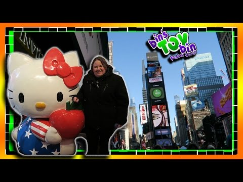 New York City Adventure! Disney, M&Ms World, Sanrio Store | 2 .14.2016 | Bin's Toy Bin Daily Vlog