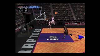 NBA Jam 2000 N64 Gameplay - Raptors (T-Mac, Vince) vs Spurs (Duncan, Robinson)