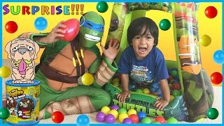 SURPRISE TOYS Challenge in Ball Pit with Ryan ToysReview
