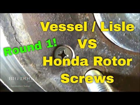 Round 1! Vessel and Lisle Impact Screwdrivers vs Honda Rotor Screws (With Bonus Tool Haul)