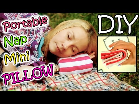 How To Make Portable Nap Mini Pillow - DIY Compact Travel Napping Pillow