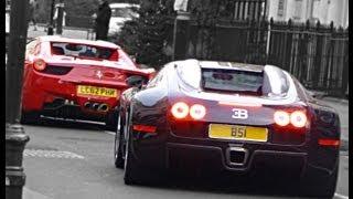 Bugatti Veyron vs. Ferrari 458 Spider cruising in London! Amazing Supercars thumbnail