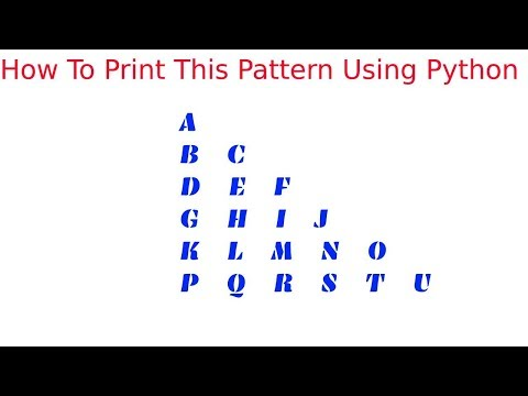 #4 | Print Alphabets and Letters pattern in python | Python Pattern Tutorial in Tamil thumbnail