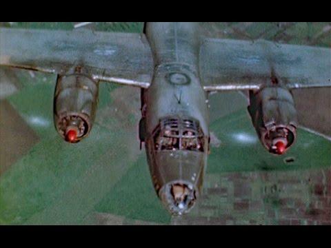 WW2 Color B-26 Marauders Over Germany
