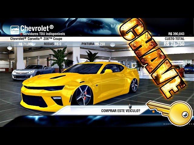 Tdu : Chevrolet Camaro 2016 Na Fixa Chave D+