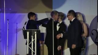 Presenting Tom Daley & Dustin Lance Black the British LGBT Influencer Award