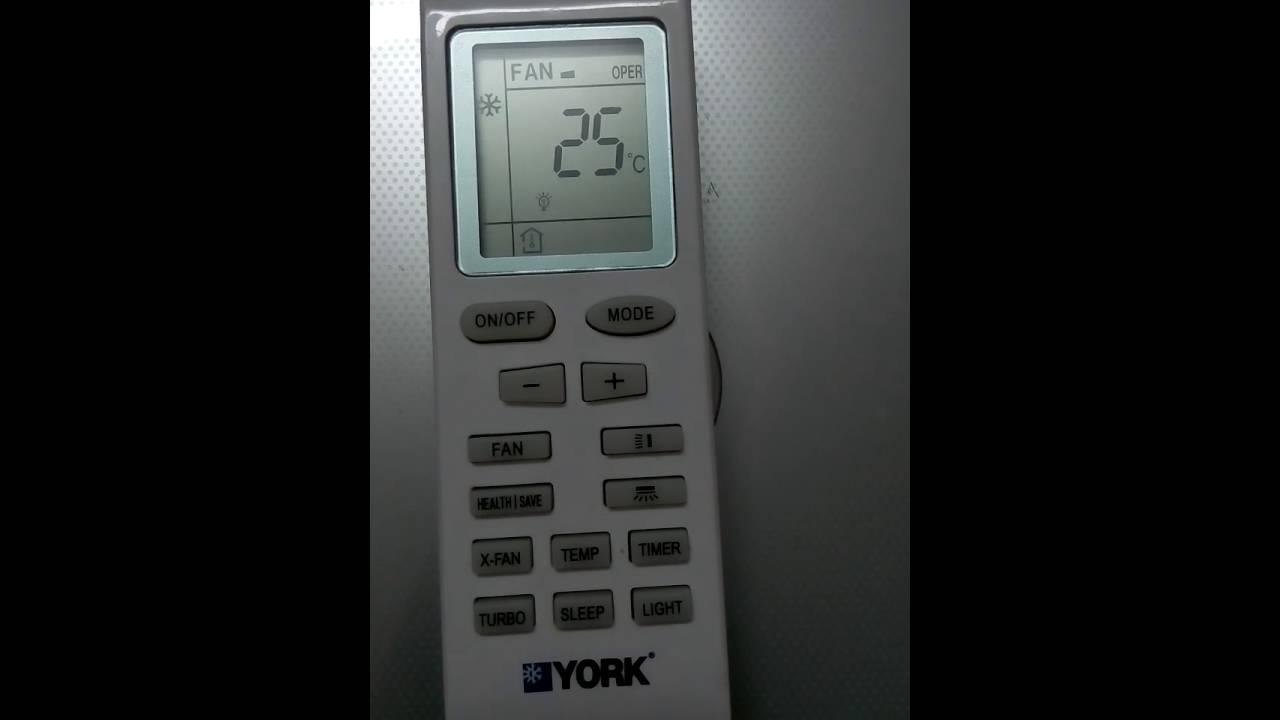 تحويل درجة الحرارة من فهرنهيت الي سلزيوس والعكس في تكييف يورك York