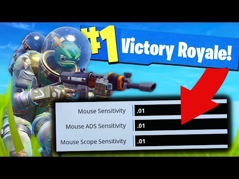 Can You Win With ZERO SENSITIVITY? - Fortnite Challenge