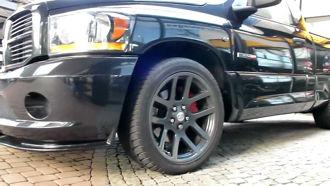 Black Dodge Ram SRT10 83 Viper V10 517 Hp 246 Kmh 2006 Sport