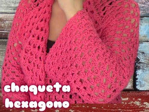 Como Hacer Una Chaqueta A Crochet Facil Con Un Square De Hexagono Youtube