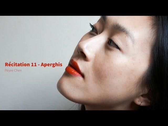 Récitation 11 - Georges Aperghis