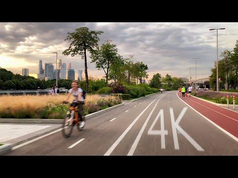 Прогулка по Москве на велосипеде в 4K