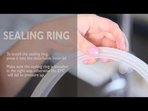 Philips Deluxe All-in-One Cooker HD2145/72 - How To Clean The Detachable Inner Lid & Sealing Ring
