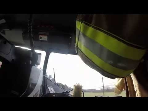 BVFD Ladder 3 responding to a Fire Alarm Call 01-08-2015 (GoPro)