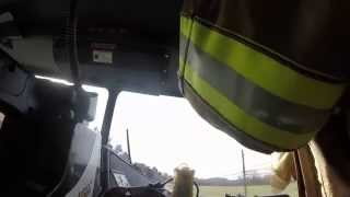 BVFD Ladder 3 responding to a Fire Alarm Call 01/08/2015 (GoPro)