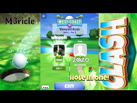 Golf Clash, Gold and trophy donation from Eric, and getting HOLE IN ONE against viewer