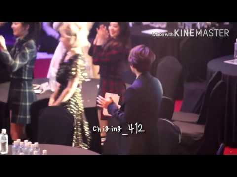 160217 Baekhyun cold reaction to taeyeon...
