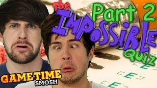 SMOSH STUMPED BY IMPOSSIBLE QUIZ - PART 2 (Gametime w/Smosh Games)