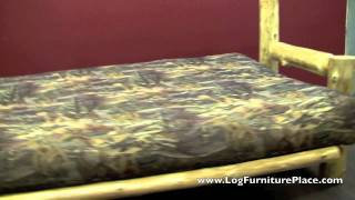 Cedar Lake Log Futon | Rustic Sleeper Sofa Futon