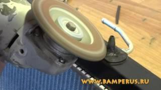 ремонт бачка радиатора материалами BAMPERUS- видеоурок