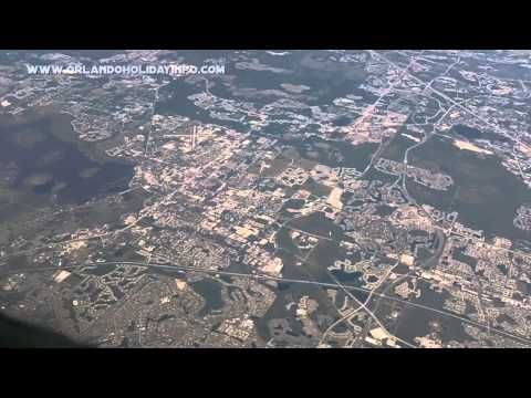 Kissimmee, Florida from airplane at 30,000ft / 10 kilometers