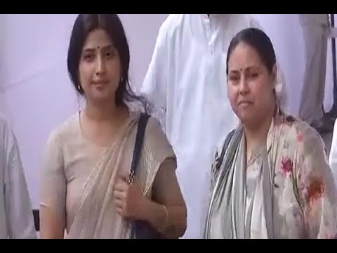 Presidential Election 2017: Samajwadi Party's Dimple Yadav with RJD's Misa Bharti at the P