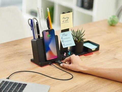 Organize your workspace with this 12-in-1 modular desk organizer